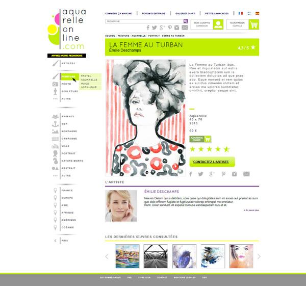 Site Aquarelle online - Ondi